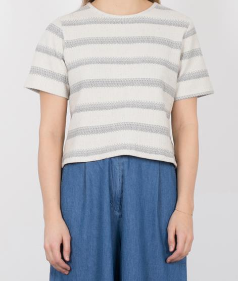 NATIVE YOUTH Textured T-Shirt white/grey