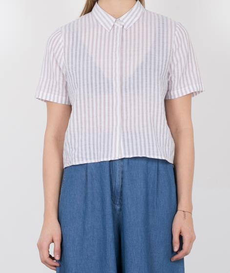 NATIVE YOUTH Cropped Linen Bluse ecru