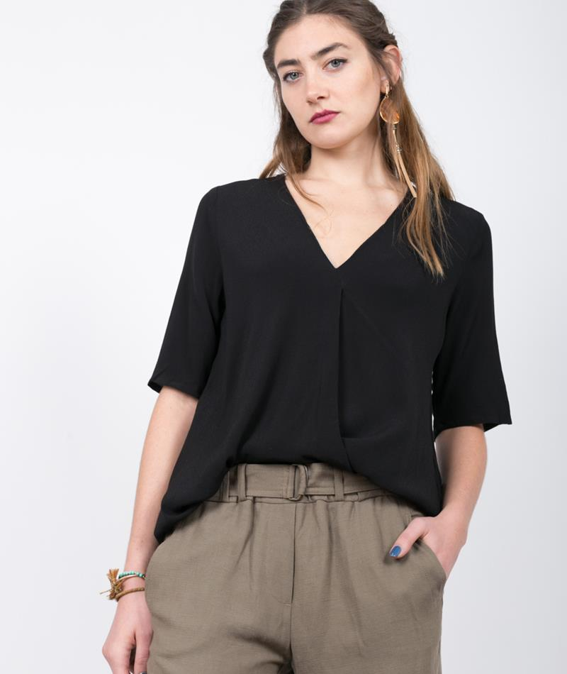 SELECTED FEMME SFBriga SS Bluse black