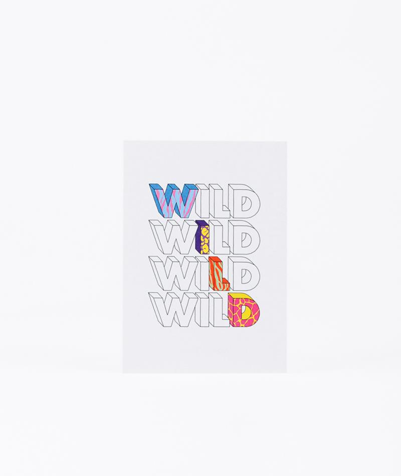 KAUF DICH GL�CKLICH Postkarte Wild