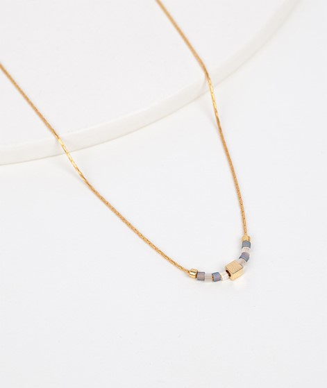 TOM SHOT Sailor Kette gold grey