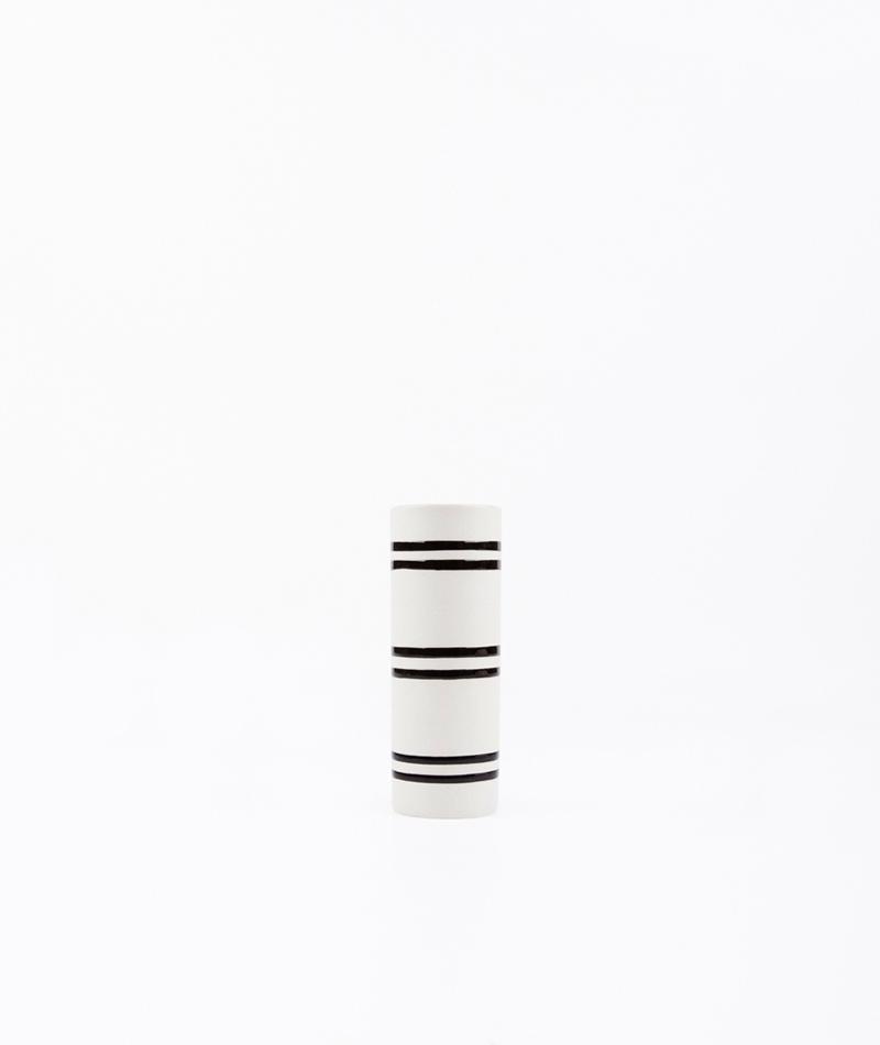 LIV Vase Streifen groß schwarz/weiß