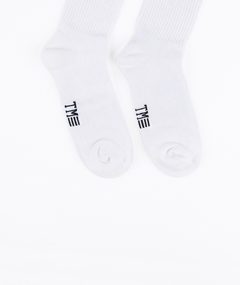 TOPMAN Tube Socken white red stripes