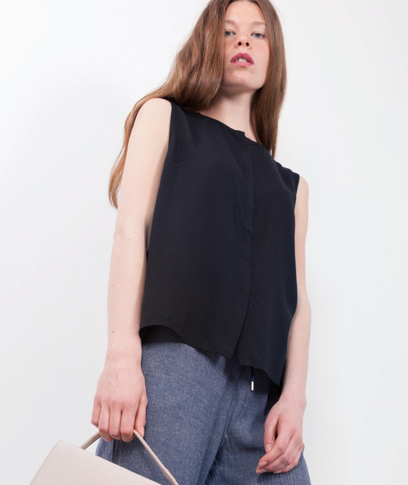 JUST FEMALE Lawn Bluse black