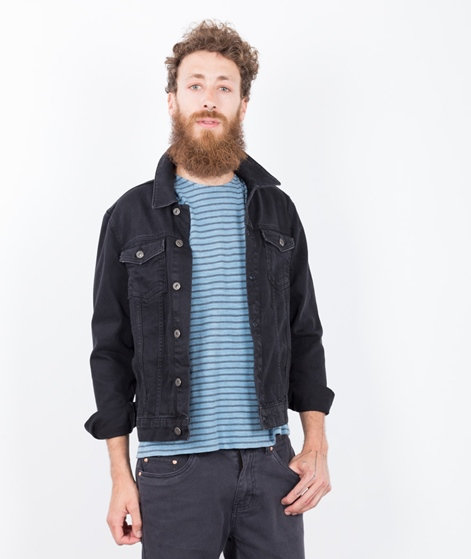 TOPMAN Denim Jeans Jacke black