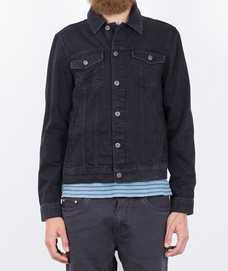 TOPMAN Denim Jeans Jacke black
