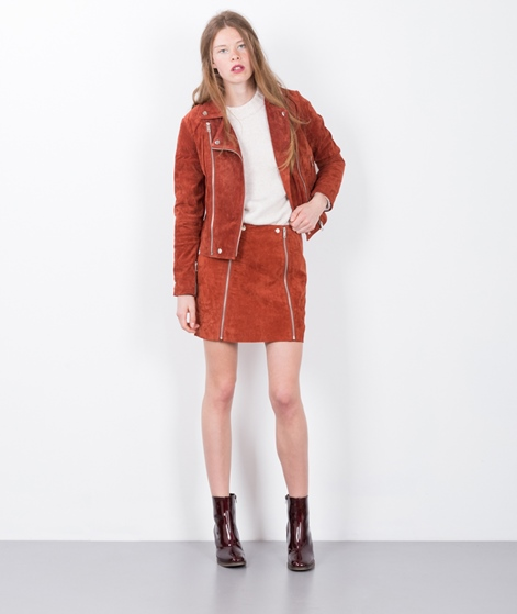 POPCPH Washed Suede Biker Rock rust