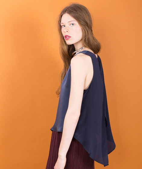 POPCPH Sand Washed Silk Top ink