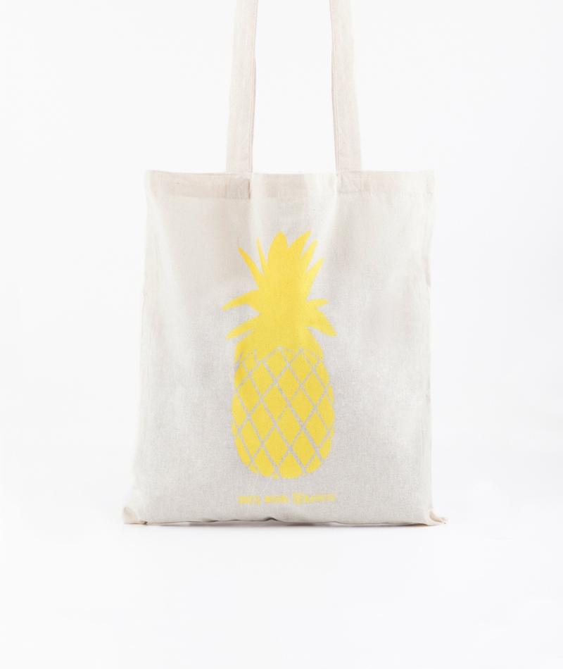 KAUF DICH GL�CKLICH Jutebeutel Ananas