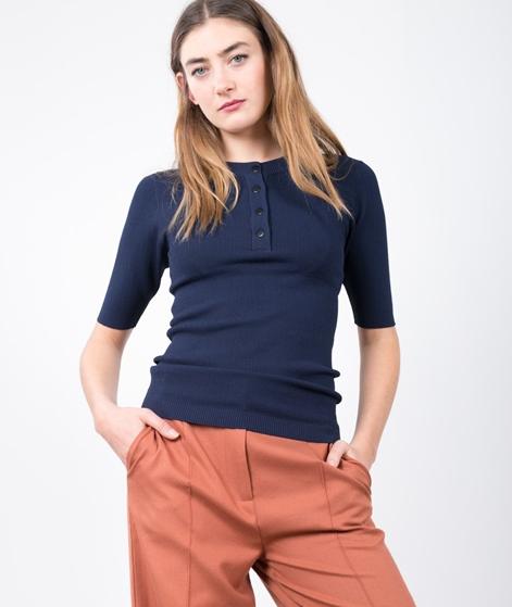 ADPT. Bright Knit T-Shirt black iris