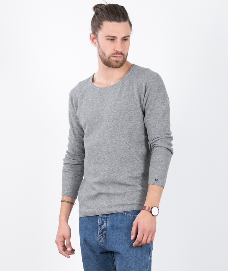 NOWADAYS Strick Crew-Neck Pullover grey