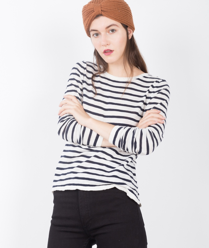 VILA Vistarly Stripe Knit Top total eclipse