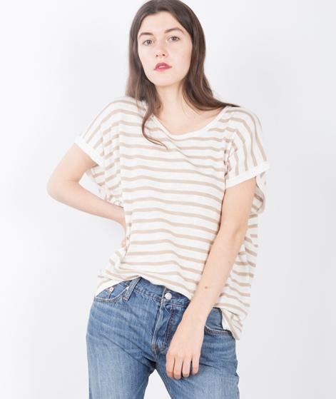VILA Vistarly Stripe KnitT-Shirt camel