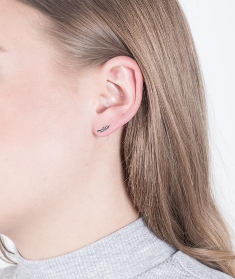 JUKSEREI Weave Ear Stud silber