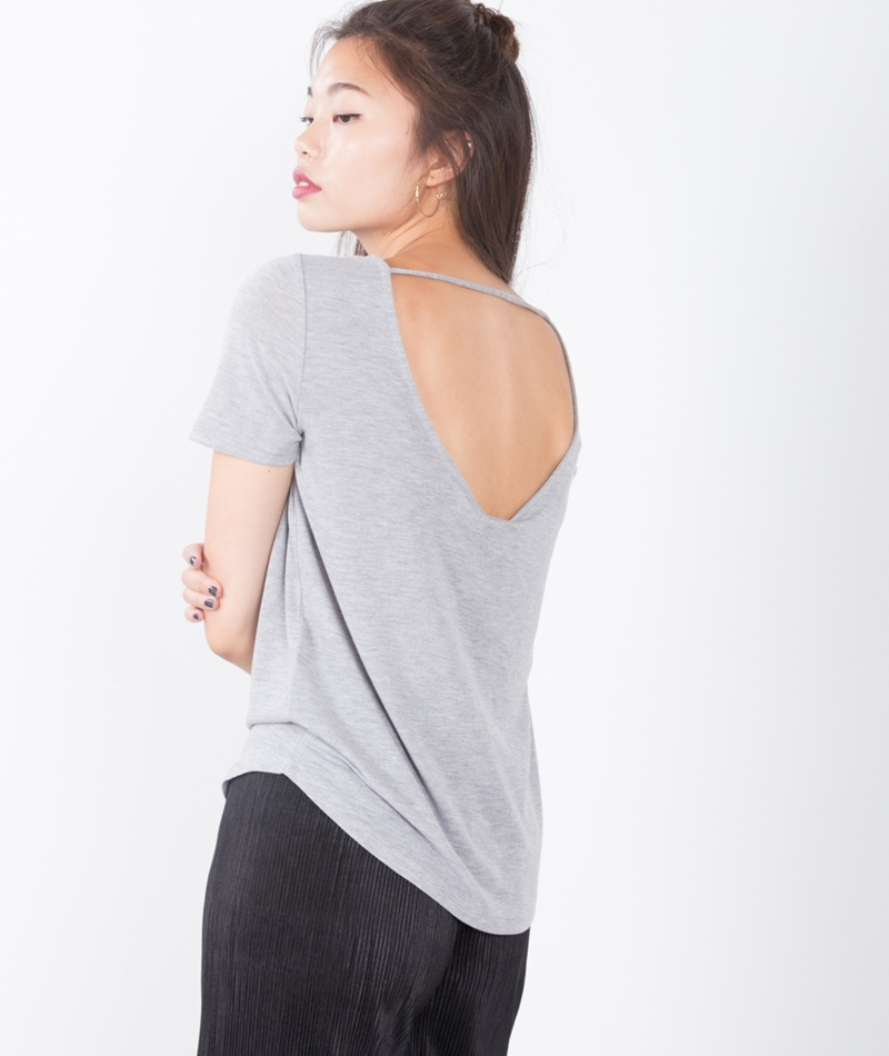 VILA Visilla T-shirt light grey melange