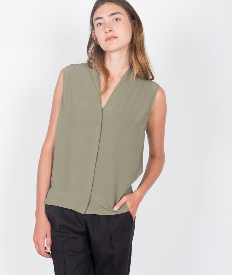 JUST FEMALE Mar Sleeveless Bluse green