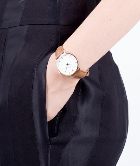 CLUSE Minuit Uhr gold white caramel