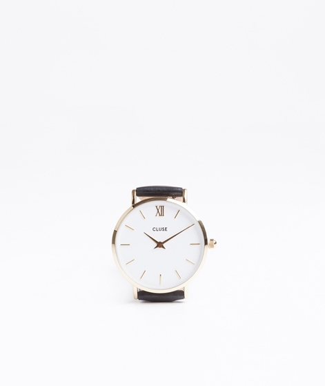 CLUSE Minuit Uhr gold white black