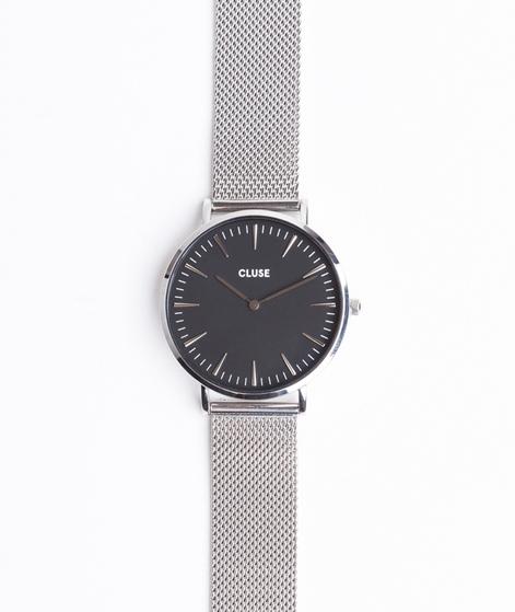 CLUSE La Bohéme Uhr mesh silver/black