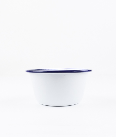 FALCON Bowl white with blue rim