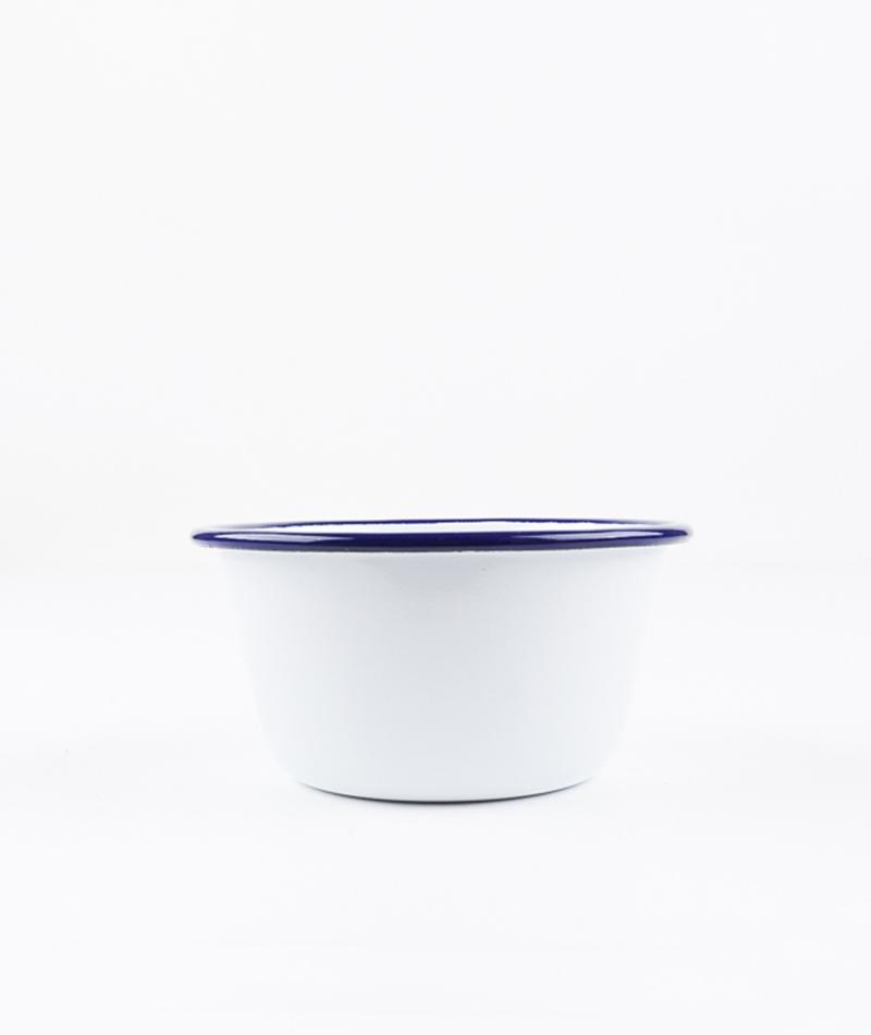 FALCON Bowl white with blue rim