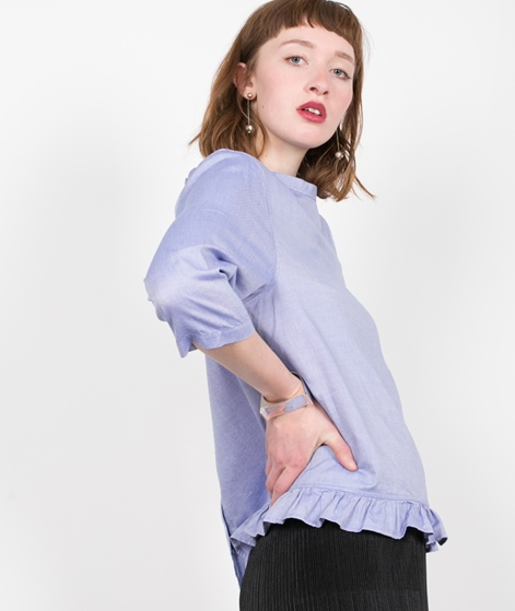 MADS NORGAARD Fine Oxford Bluse blue