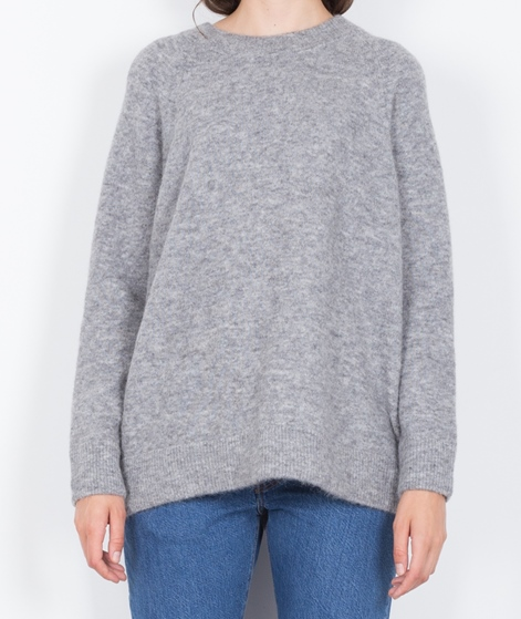 SAMSOE SAMSOE Nor O-N Long Pullover grey
