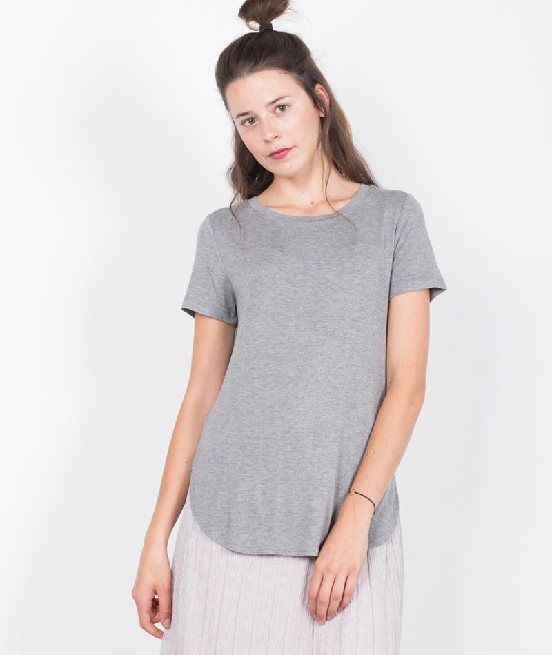 MINIMUM Roxanne T-Shirt light grey