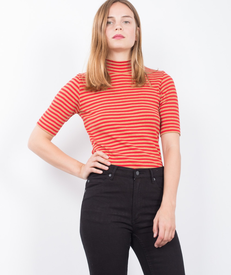 MADS NORGAARD Tuqina T-Shirt camel/red