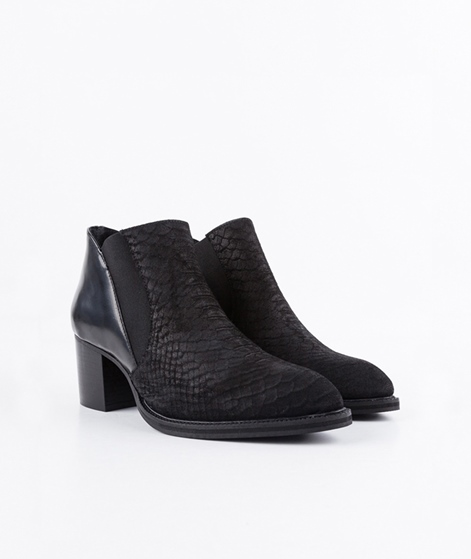 PAVEMENT Bine Stiefelette black croco