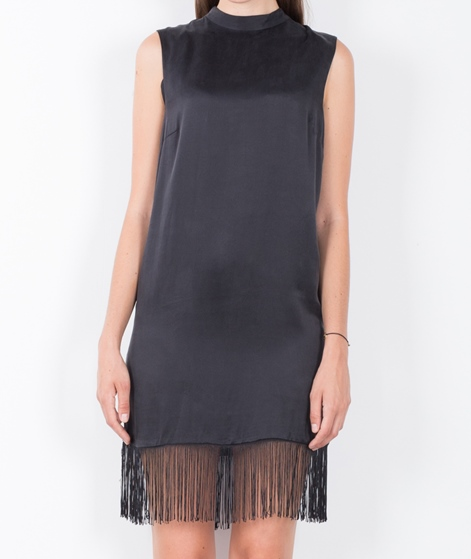 POPCPH Sand-washed Silk Kleid black