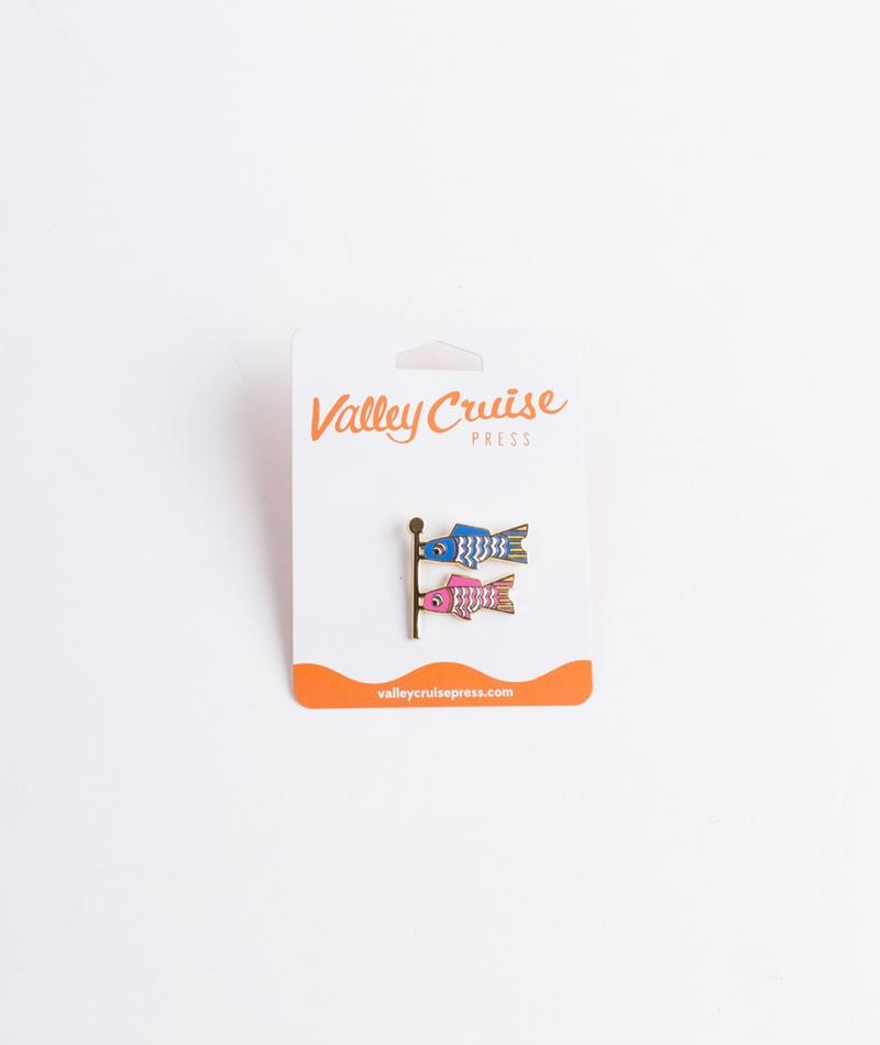 VALLEY CRUISE PRESS Fish Flag Emoji Pin