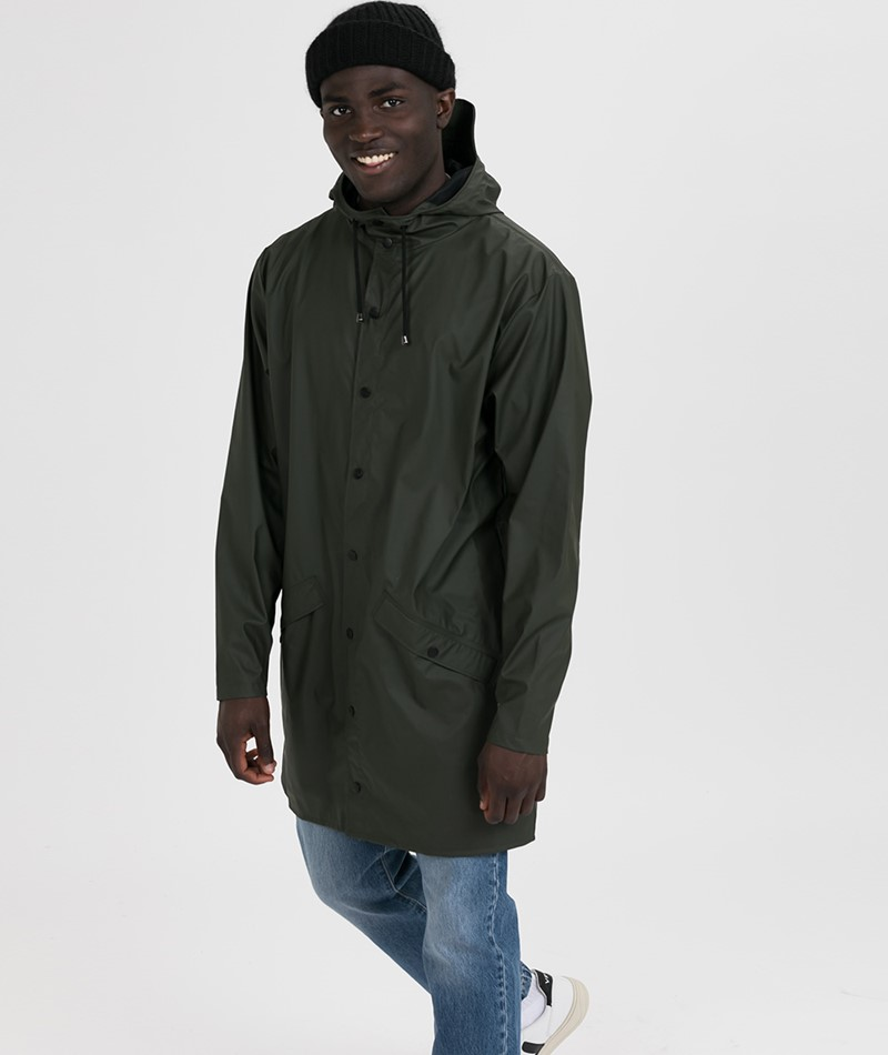 RAINS Regenmantel khakigrün