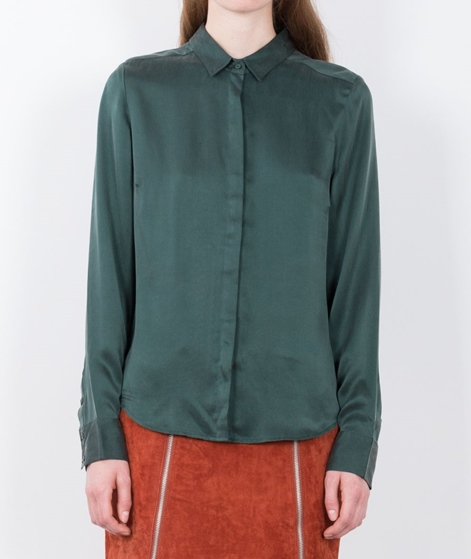 POP CPH Sand Washed Silk Bluse green