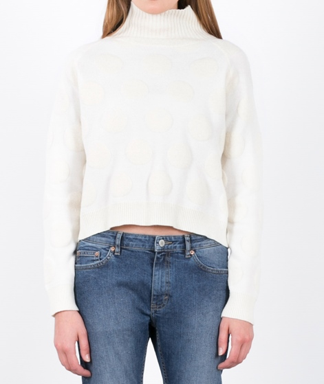 SELFHOOD Nylon Knit Pullover white