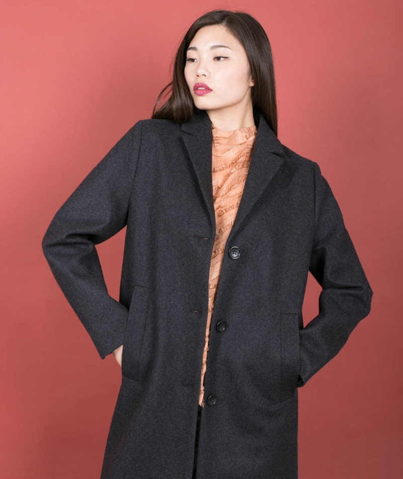 SELFHOOD Wool Jacke grey