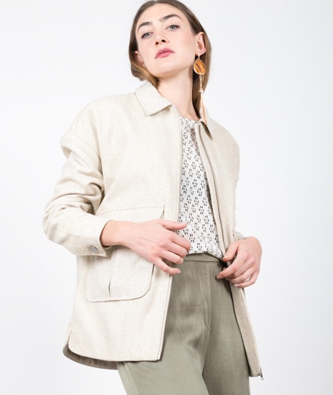 SELFHOOD Wool Jacke white