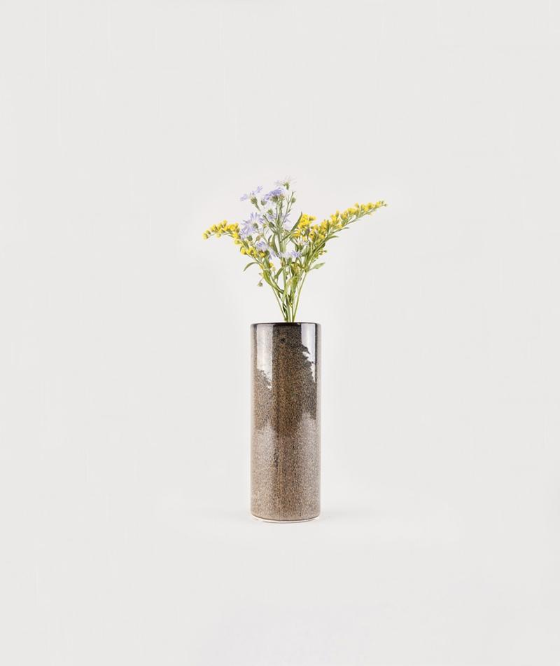 BLOOMINGVILLE Vase grün blau braun