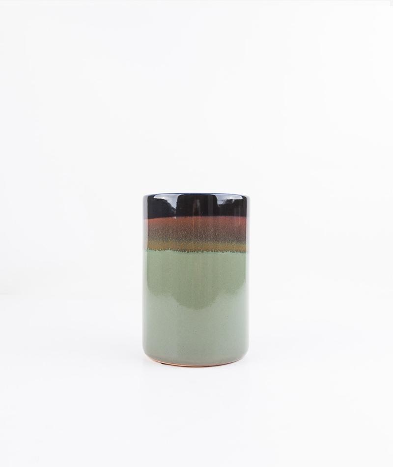 BLOOMINGVILLE Vase Farbverlauf gr�n brau