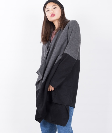 VILA Vikaia Block Cardigan dark grey