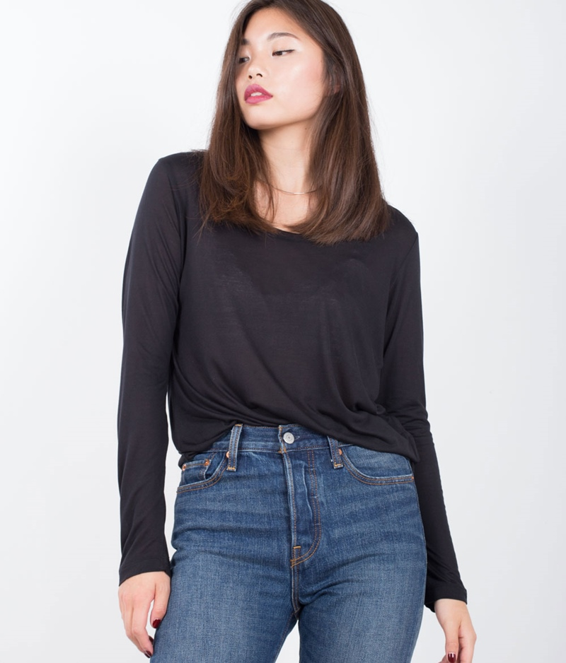 SAMSOE SAMSOE Amie Is Longsleeve black