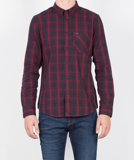 LEE Button Down Hemd maroon port
