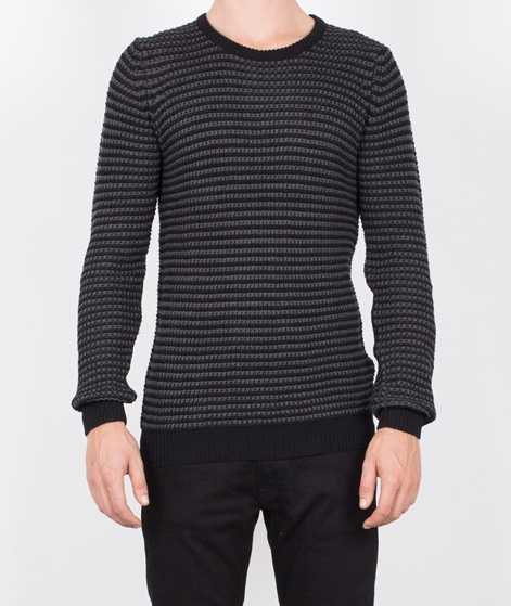 SUIT Condor Stripe Pullover schwarz/grau