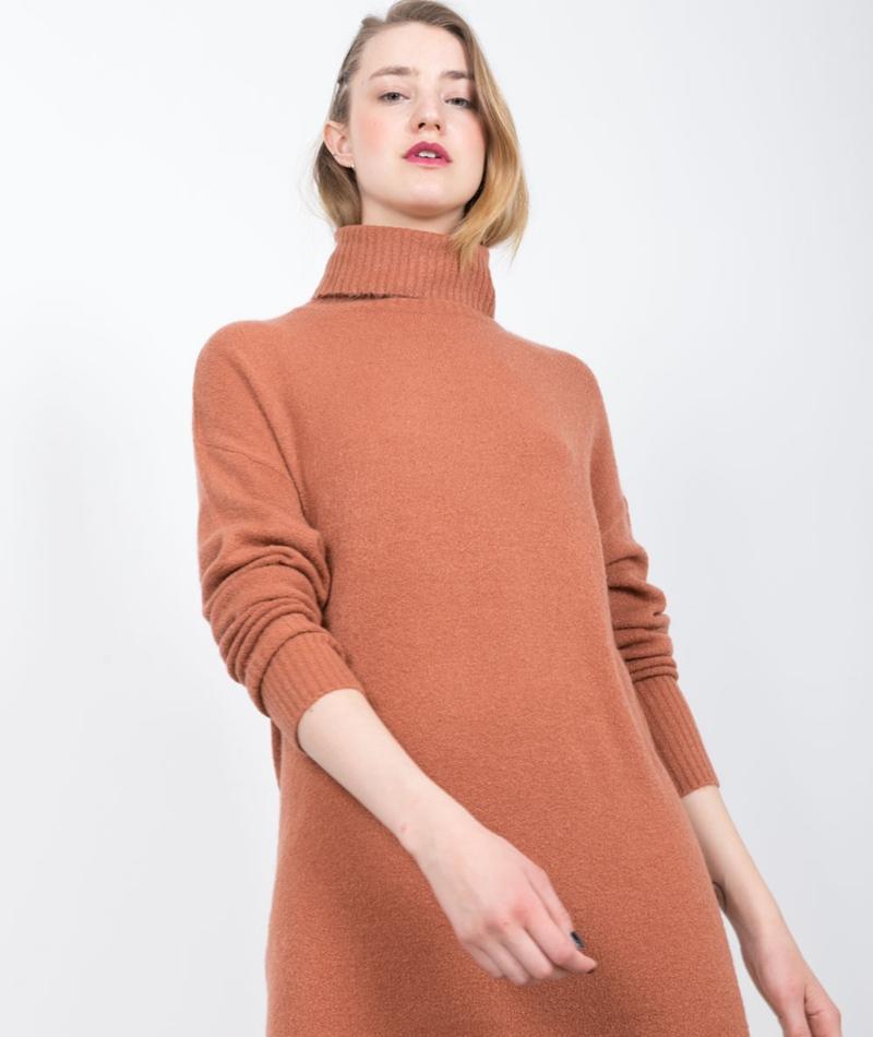 ADPT. Never Knit Kleid copper brown