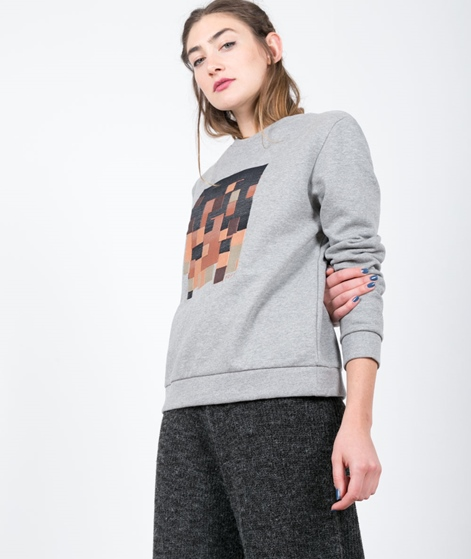 ADPT. Clock Cropped Pullover light grey