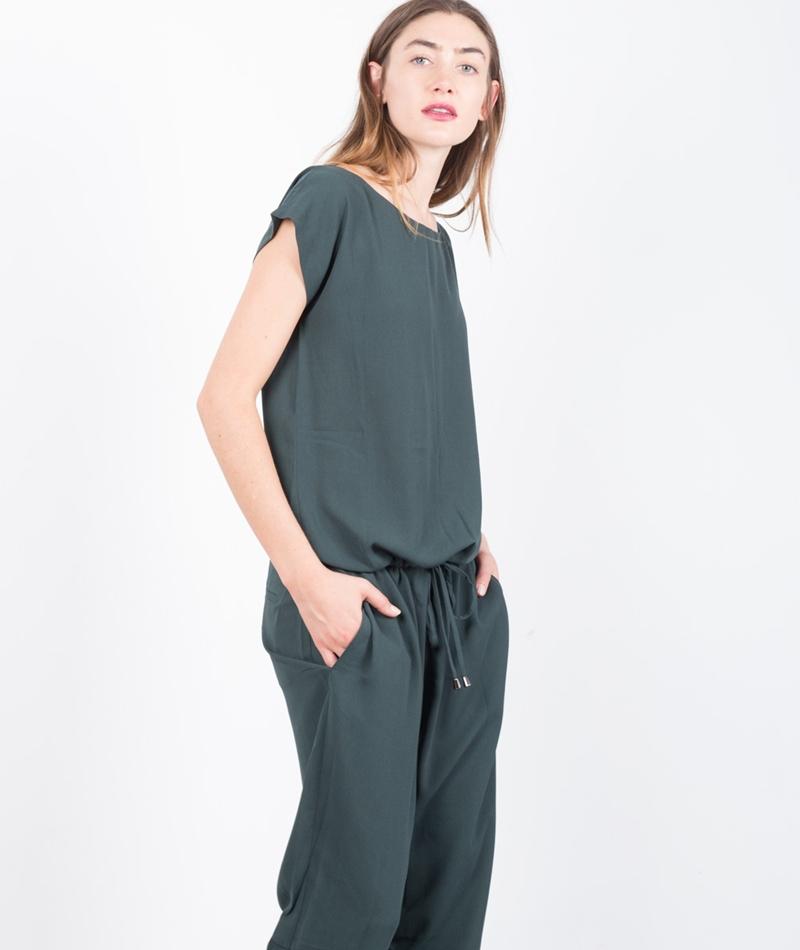 MADS NORGAARD Crepe Georgette Jumpsuit