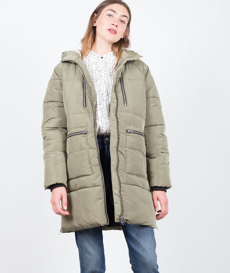 MINIMUM Liw Outerwear Mantel in olivgrün