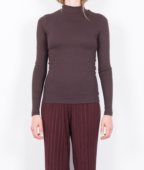 VILA Vifalls Rib Turtleneck Longsleeve chocolate plum