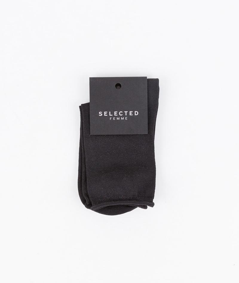 SELECTED FEMME Fie Glitter Socken black