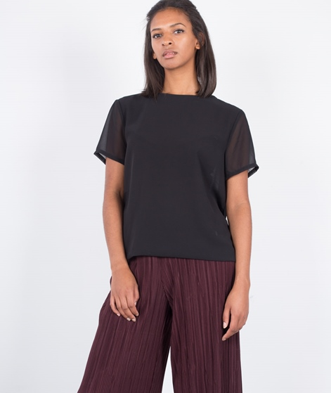 POPCPH Georgette Layered T-Shirt black